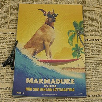 MARMADUKE Animal Movie Vintage Pet Poster Wall Paper Home Decor ...