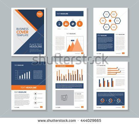 Company Profile Annual Report Layout Template Stock Vector ...