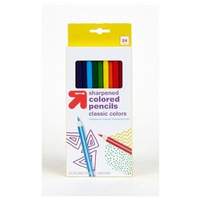 Colored Pencils 24ct (Compare to Crayola® Colored Pencils) - up ...