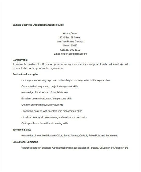 Professional Manager Resume - 49+ Free Word, PDF Documents ...