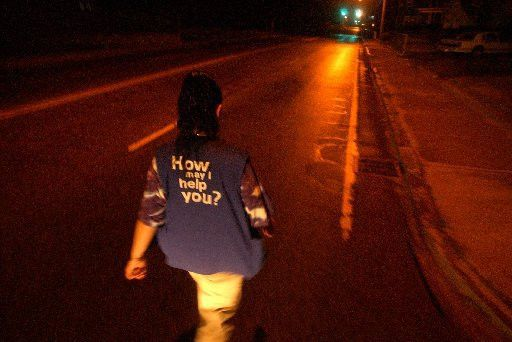 She walks alone – It's five miles from her house in South ...