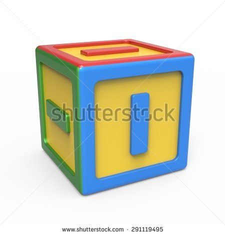 Alphabet Toy Block Letter L Stock Illustration 291789530 ...