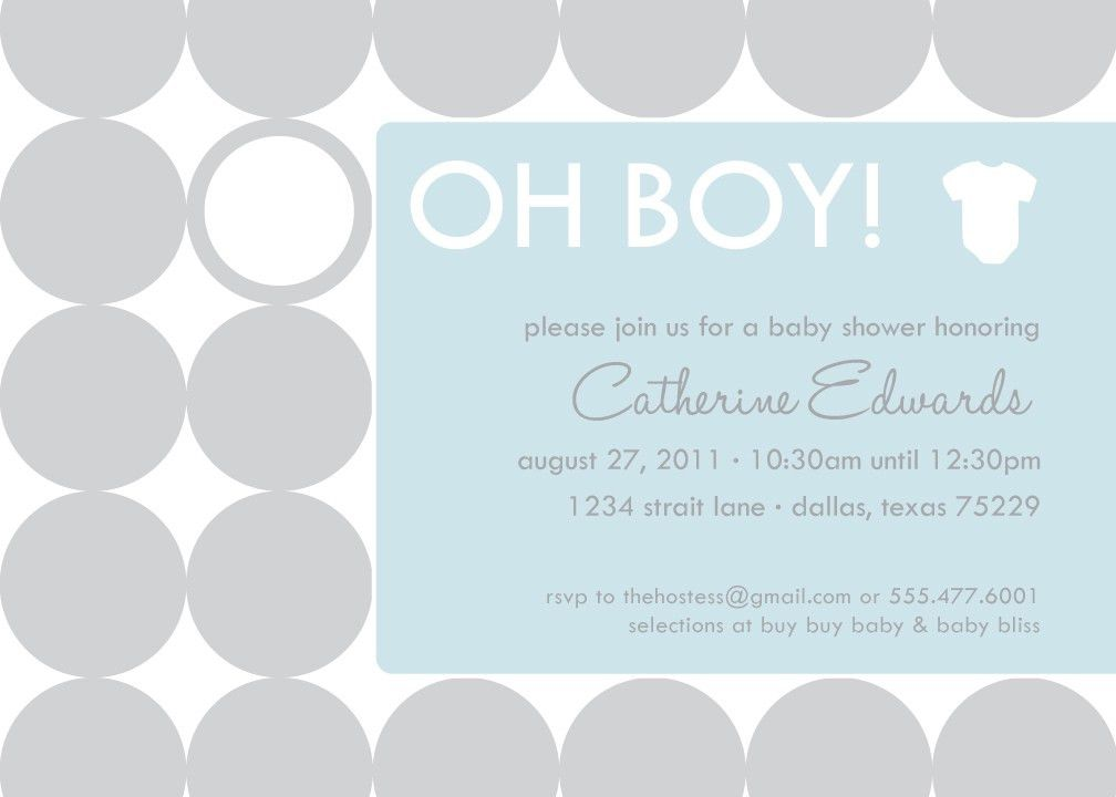 Simple Baby Shower Invitations - Party XYZ