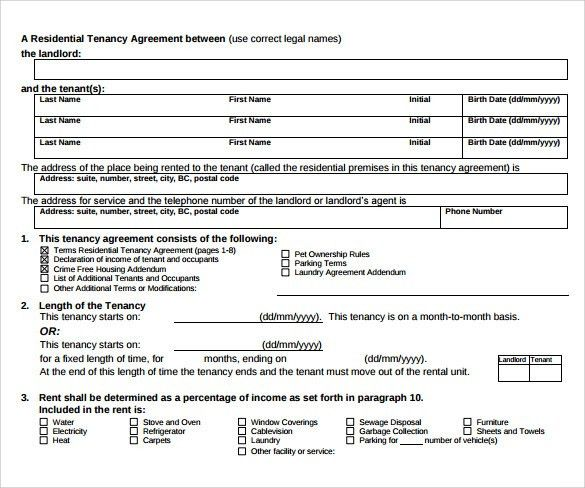 Sample Tenancy Contract - 10+ Documents in PDF, Word