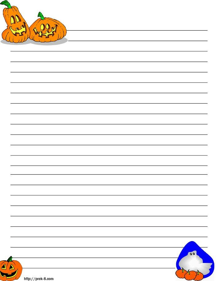 Halloween Border Lined Paper – Festival Collections