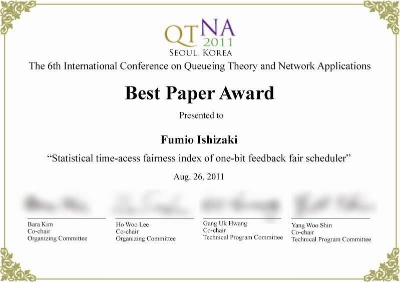 Wonderful Award Paper Template And Award Paper Template
