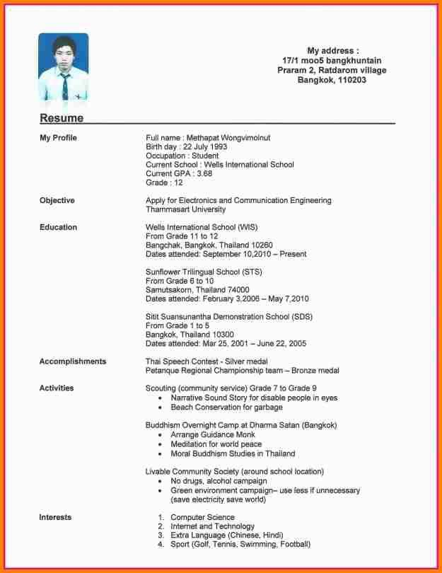 Example Of High School Student Resume. A Sample High School Resume ...