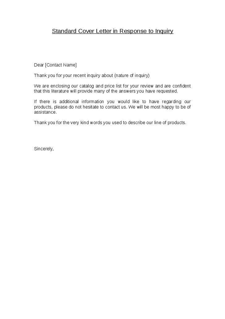 Fancy Idea Standard Cover Letter 2 Outstanding Examples For Every ...
