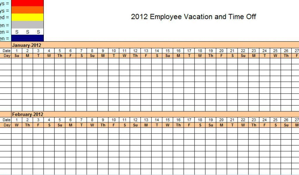 Employee Leave Tracker Excel Template Employee Training Template ...