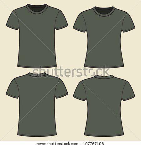 Vector Mens Tshirt Design Template Pocket Stock Vector 76801609 ...