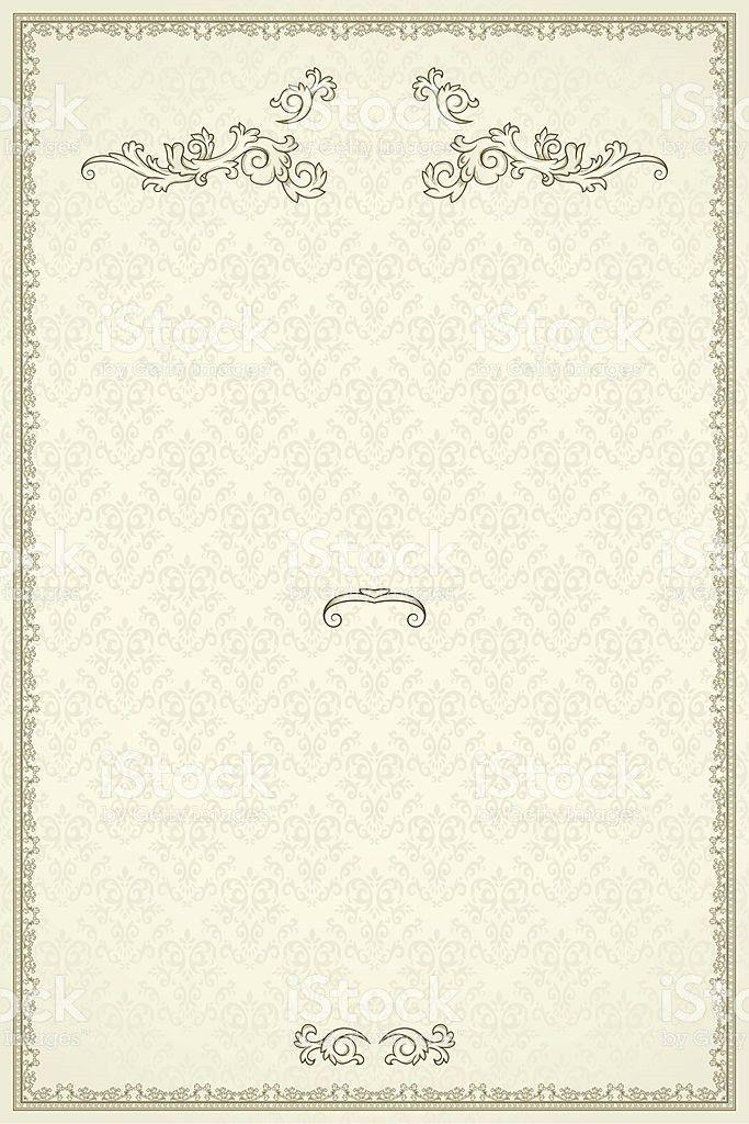 Vintage Frame Or Blank For Diploma On Damask Background stock ...