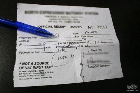 Bagong format ng official receipt at sales invoices, iniutos ng ...