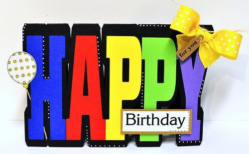 The Cutting Cafe': HAPPY WORD SHAPED CARD....TEMPLATE - CUTTING FILE