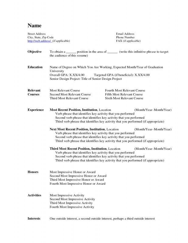 Resume Templates For Word 2007. Microsoft Word Resume Template ...