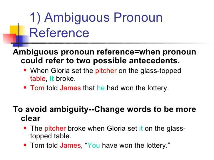 Pronoun reference powerpoint
