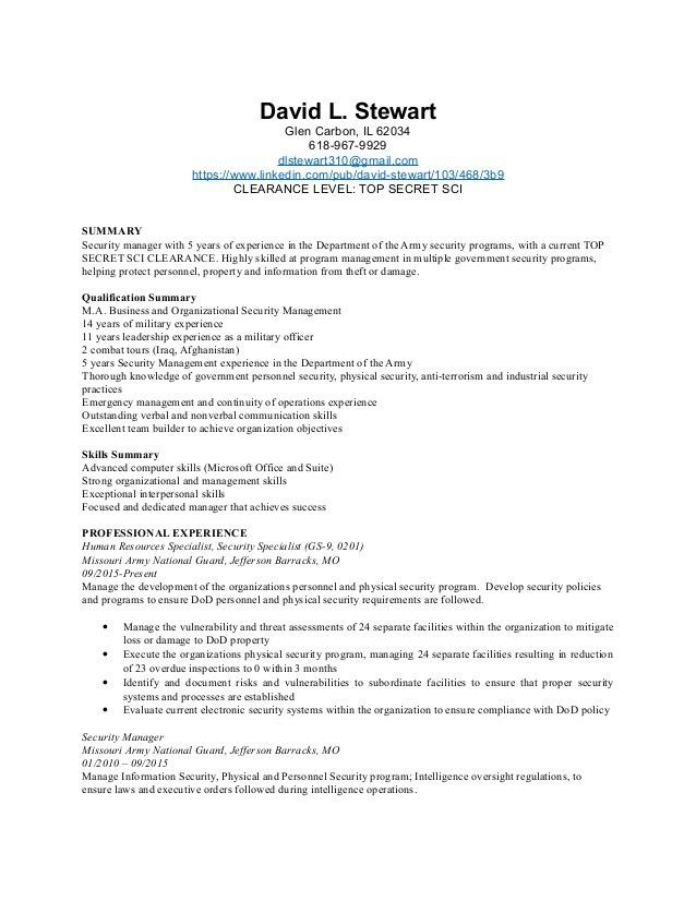 Physical Security Manager Resume 4Dec2015