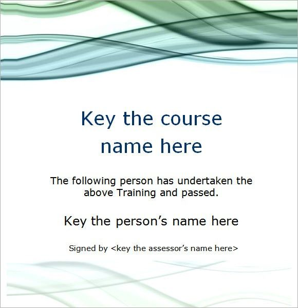 Free Training Certificates. Training Certificate Template - Free ...