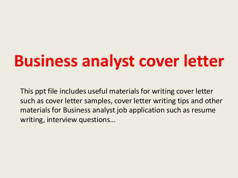 business analyst cover letter examples