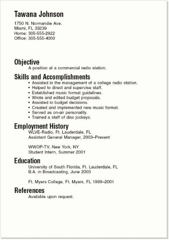 Resume For College Student – Resume Examples