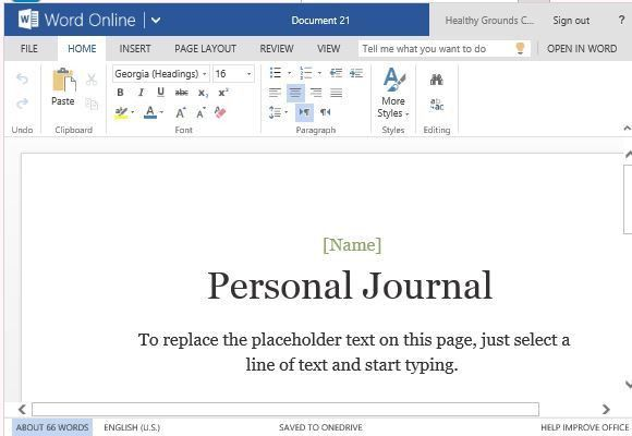 journal templates for word - Template