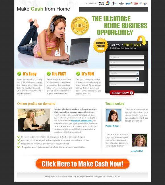 Free Landing Page Templates | Cyberuse