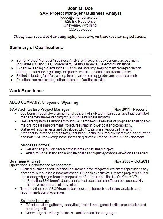 Sample Project Manager Resume. Project Manager Resume Pdf Sample ...