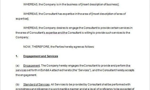 Consulting Contract Templates. Sample Non-Disclosure Agreement ...