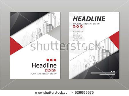 Blue Annual Report Brochure Template Design Stock Vector 444052480 ...
