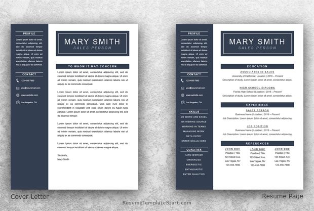 One Page Resume Template Word - Resume Template Start