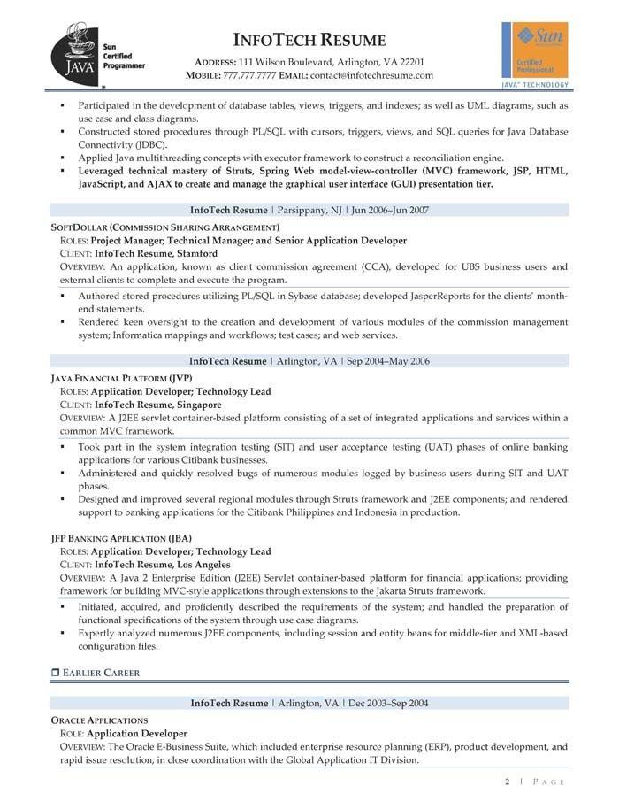 Senior informatica developer resume