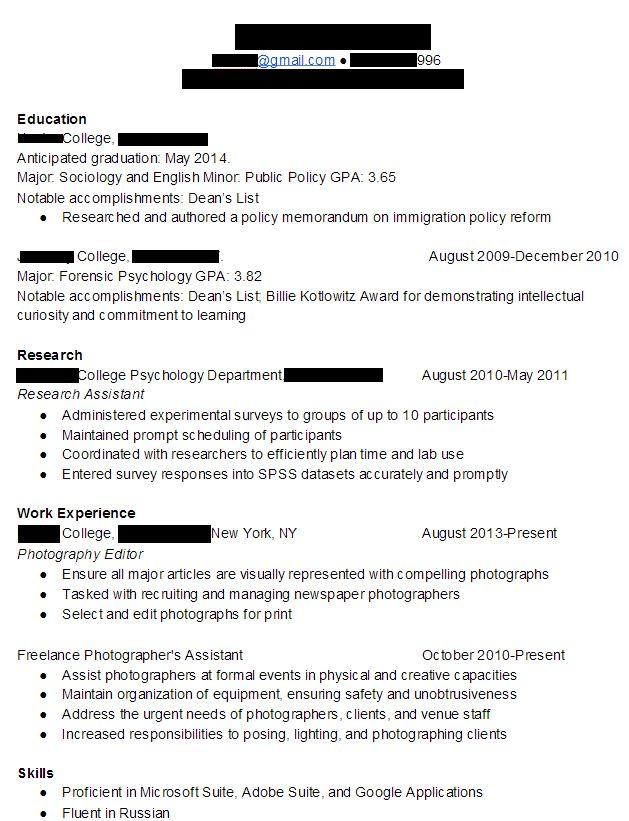 College Internship Resume | berathen.Com
