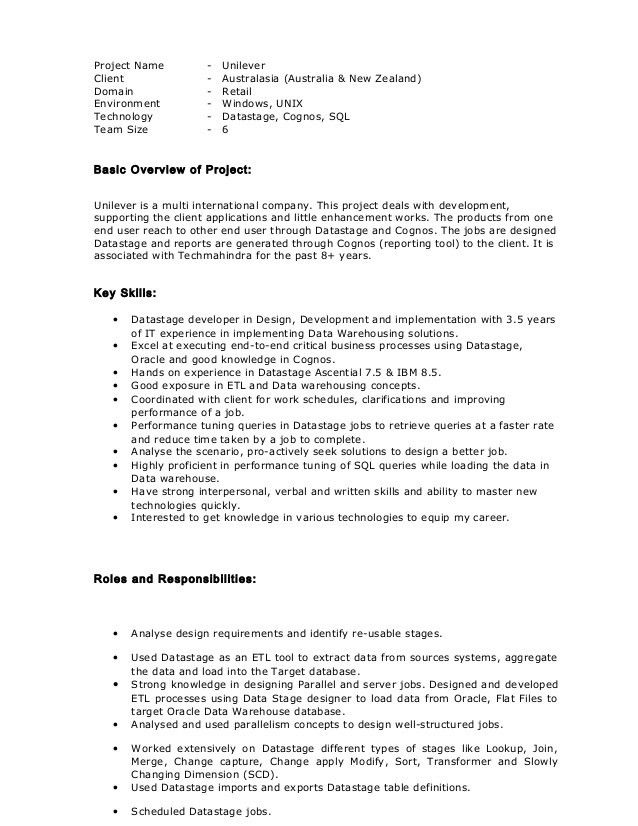 software engineer resume samples datastage administrator sample ...