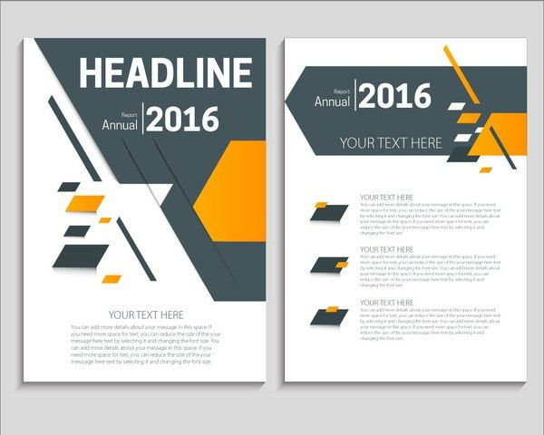 Flyer brochure report template with modern style design Free ...