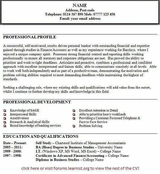 Personal Statement Resume | The Best Resume