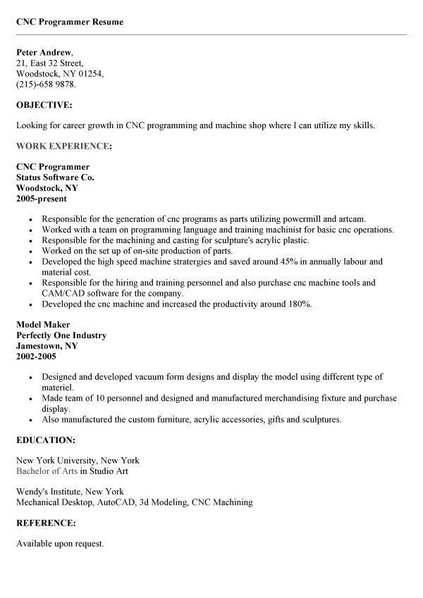 resume format for cnc programmer pdf 1. download cnc machinist ...