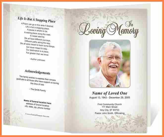 funeral service program template free