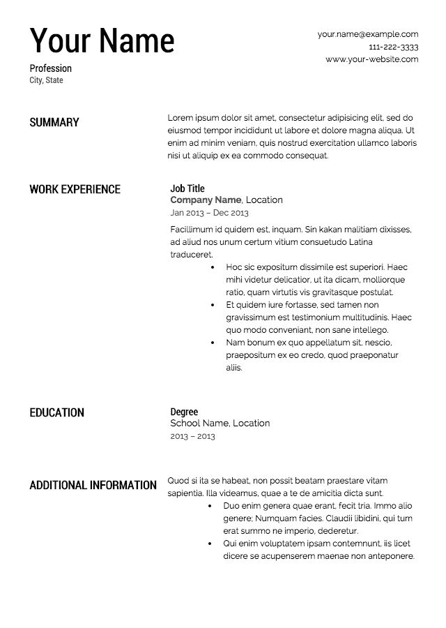 Cover Letter and Resumes Examples | Resume Templates
