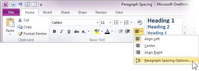 Adjust paragraph spacing in OneNote 2010 - Office Blogs