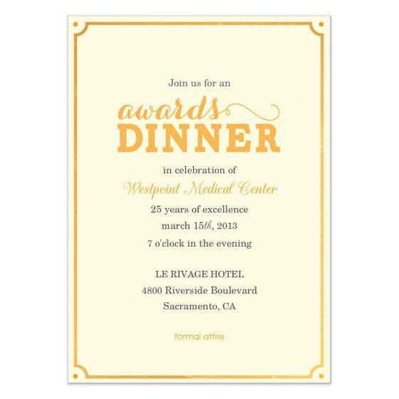 Awards Dinner, Invitations & Cards on Pingg.com