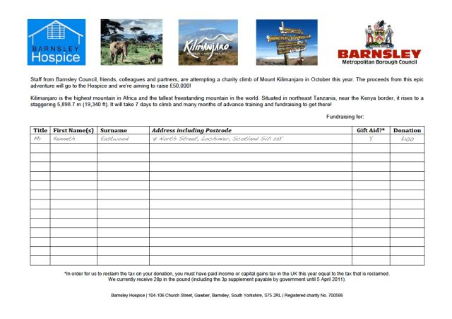 Resources | Barnsley Kilimanjaro Charity Trek 2011