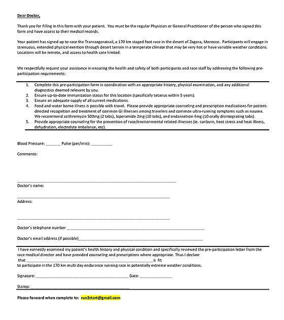 transzagoratrail | Medical Certificate
