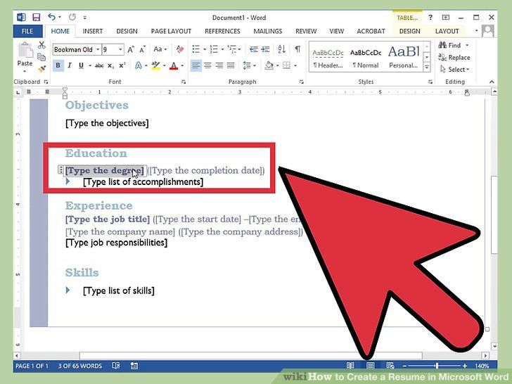 How to Create a Resume in Microsoft Word (with 3 Sample Resumes)