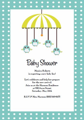 Template For Baby Shower Invitation | THERUNTIME.COM