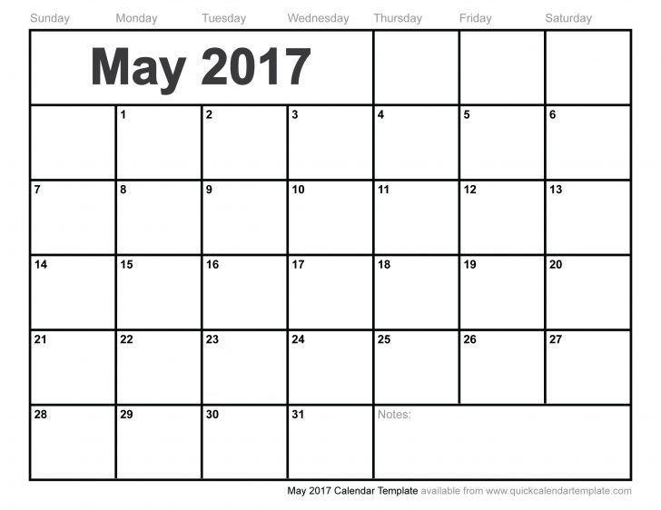 2017 Printable Calendar Templates