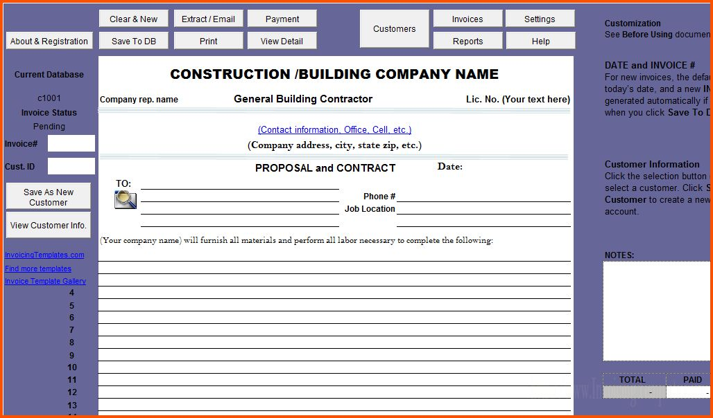 12+ construction proposal template | Survey Template Words