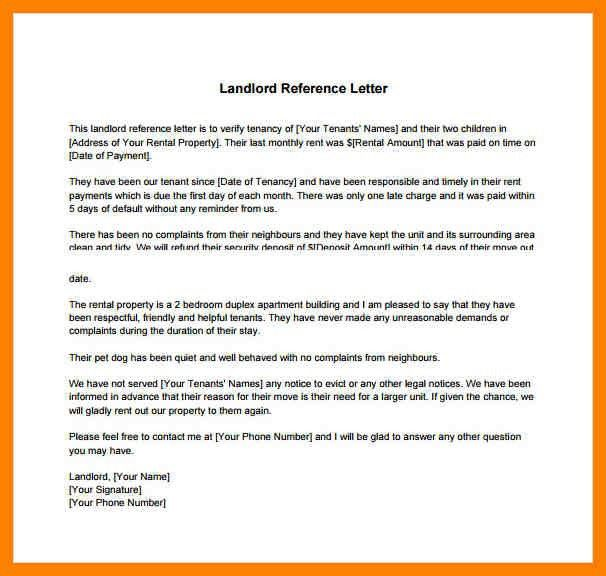 11+ reference letter for a tenant | day care receipts