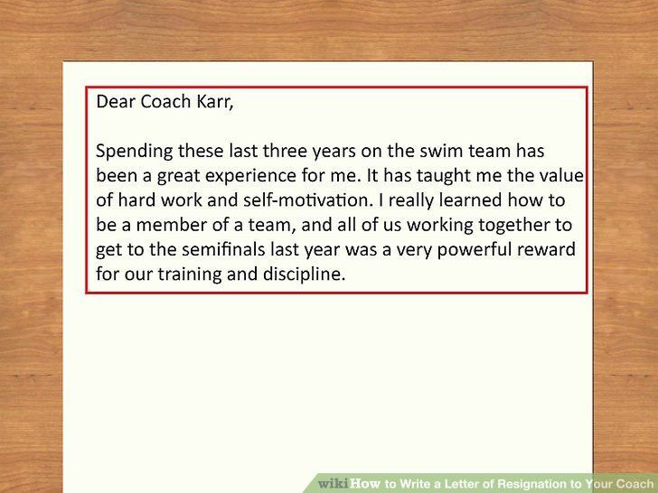 How to Write a Letter of Resignation to Your Coach (with Sample ...