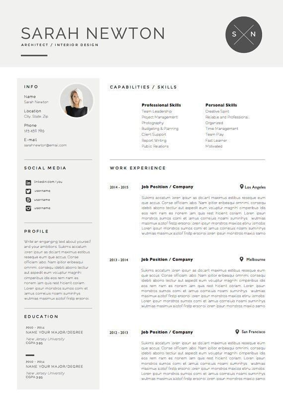 718 best Resume images on Pinterest | Resume ideas, Cv ideas and ...