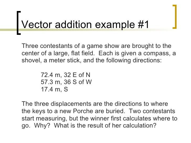 Ap Physics C Mathematical Concepts Vectors