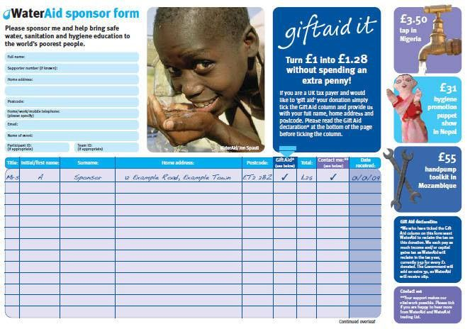 Charity Sponsor Form [Template.billybullock.us ]